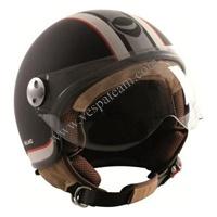 casco helmetto matt black misura L