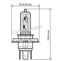 lampada alogena 12V-35/35W H4