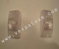 vetro freccia bianco anteriore (coppia)