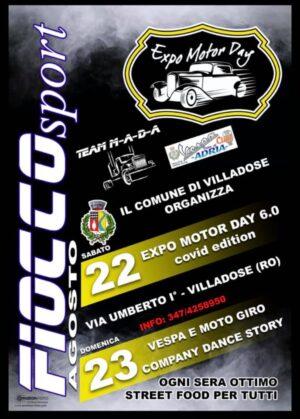 Sabato 22 e Domenica 23 agosto 2020 Expo Motor Day di Villadose (Ro)